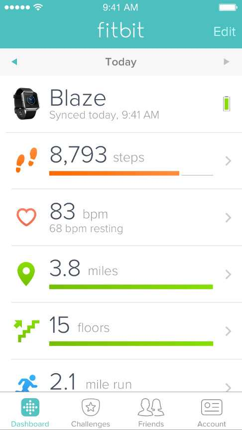 Fitbit: Fitness tracking android application