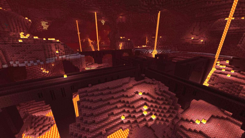 nether fortress in minecraft