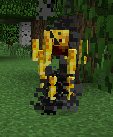 blaze in nether fortress