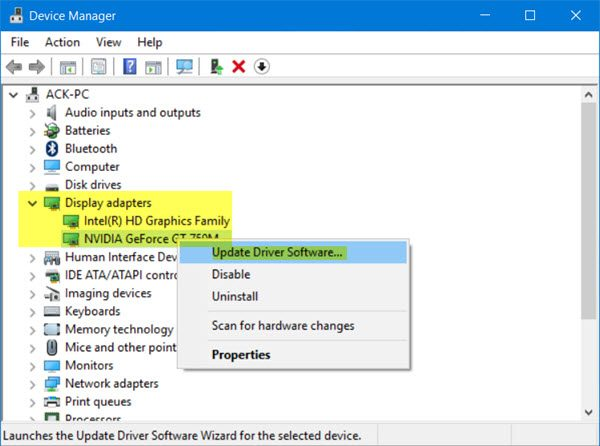 fix using device manager