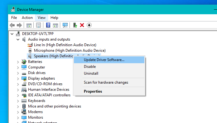 Sound Settings - Sound Equalizer in windows 10